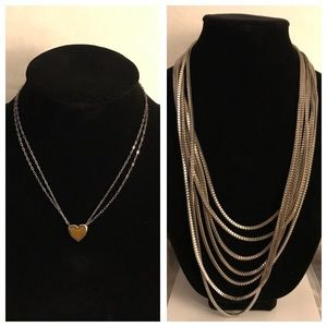 2 silver necklaces for the price of one!